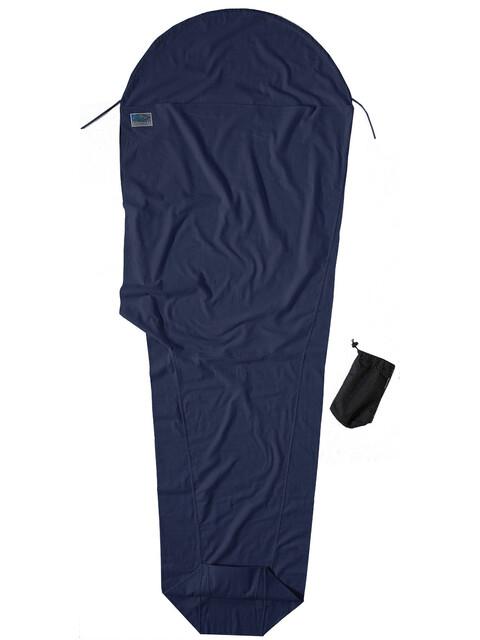 Cocoon - Drap sac de couchage en coton/flanelle - bleu foncé